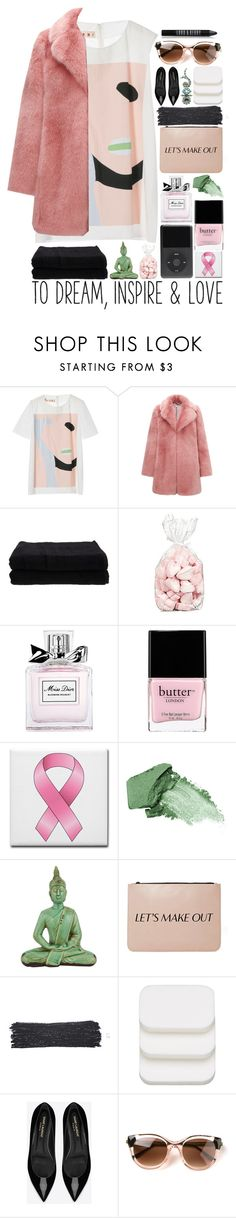 """""""Breast Cancer Awareness Month"""" by starit ❤ liked on Polyvore featuring Marni, Whistles, Home Source International, Christian Dior, Butter London, Urban Decay, Nila Anthony, Paul & Joe, COVERGIRL and Yves Saint Laurent"""