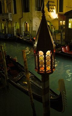 Night on the canals, Venice, Italy