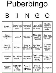 Puber Bingo