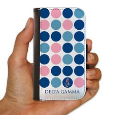 Delta Gamma Samsung Galaxy S4 Protective Wallet Case - Polka Dot Design VictoryStore http://www.amazon.com/dp/B00IK383BM/ref=cm_sw_r_pi_dp_7d37vb1XY3D2T
