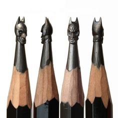 Artist Salavat Fidai, based in Russia, makes little handmade sculptures on the top of graphite pencils. The artist took a lot of care about details of each pop culture character, famous portrait and sculpted object. A project that reminds us of Crayola sculpture, to discover.