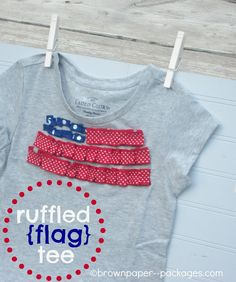 brown paper packages: {ruffled ribbon flag tees}