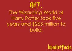 Harry Potter Fact 017...i'm going next time i go to florida!!!!! sooo excited!