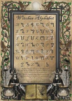 Witches Alphabets.....