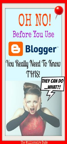 I love FREE Stuff, but when it comes to Websites, you need to choose wisely! Your BLOGGER website is NOT YOURS! Without notice they can...