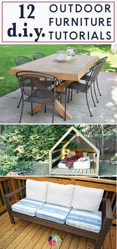 Outdoor furniture can be so expensive, but these DIY outdoor furniture projects are high on style and easy on your wallet! If you are looking for outdoor furniture ideas that you can make yourself, click through to see the best DIY outdoor furniture tutorials on the web! Kaleidoscope Living #diyoutdoorfurniture #gardendecor Plywood Furniture, Balcony Furniture, Best Outdoor Furniture, Outdoor Garden Furniture, Ikea Furniture, Furniture Projects, Furniture Plans, Kitchen Furniture, Rustic Furniture