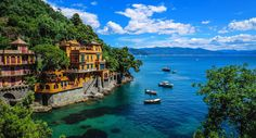 Genoa Italy water tree outdoor sky Boat geographical feature landform body of water River Sea Coast Lake Nature vacation bay tourism islet cove Island archipelago Lagoon Beach caribbean traveling surrounded