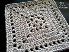 "Nana's ""Not a Latte Square"" - free crochet pattern by Des Maunz / Nana's Crochet Creations. 8 inches."