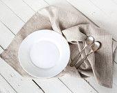 Linen towels - Natural linen kitchen tea towels 2 set - Organic flax hand towels - Eco friendly kitchen linen