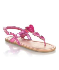 Jelly Beans Fuchsia Sparkle Heart Yobu Sandal. Toddler ShoesJelly ... ff0d3d5570b12