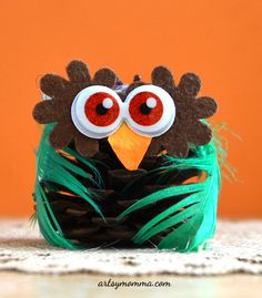 Cutest Owl Pinecone Craft for Kids