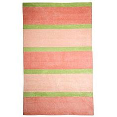 @Overstock - Accent any room with a new area rug Contemporary rug constructed of polyacrylic Rug displays shades of pink, green and light pinkhttp://www.overstock.com/Home-Garden/Classic-Stripes-Pink-Rug-5-x-8/4079255/product.html?CID=214117 $144.49