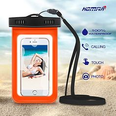 Flat Off on Homar® Universal Waterproof Case – Best in Water Sports Equipment – Dry Bag Pouch for Apple iPhone 6 Plus, Samsung Galaxy Edge, BlackBerry Cell Phone up to 6 inches Keys etc. Cell Phone Cases, Iphone Cases, Iphone 6, Waterproof Iphone Case, Boat Safety, Kayak Accessories, Samsung Galaxy S6, Galaxy S7, Sports Equipment