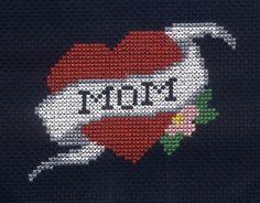 Mother's Day - Free Subversive Cross Stitch Pattern of Mom Tattoo