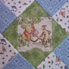 Winnie the Pooh Pre Cut Fabric Quilt Block Kit stk138. $34.99, via Etsy.