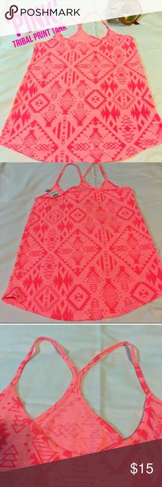 PINK tribal print tank New but never worn. Took the tags off and changed my mind about keeping it. PINK Victoria's Secret Tops Tank Tops