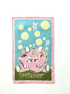 Vintage Pink gg guy Cocktail Napkin Champagne Bubbles Textile Art at NeatoKeen on Etsy