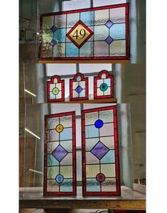 Stained glass windows   Light Leaded Designs   Rossendale Victorian Stained Glass Panels, Modern Stained Glass, Stained Glass Door, Making Stained Glass, Stained Glass Designs, Stained Glass Projects, Leaded Glass, Glass Doors, Window Maker
