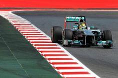 Nico Rosberg on track - 2013 Spanish GP FP3