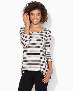 charming charlie | Jade Striped Top | UPC: 410006896604 #charmingcharlie