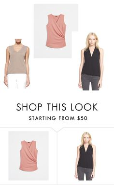 """SHELL TOP"" by fultonhoward ❤ liked on Polyvore featuring Ann Taylor, Joie and ESCADA"