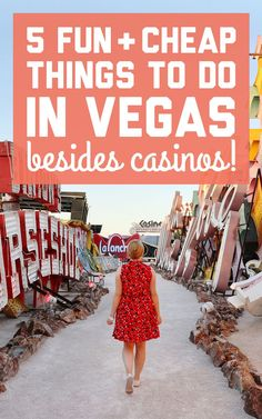 These activities are fun, cheap (all under $20), and will fill those chunks of time during the day when Vegas isn't looking so glitzy and glamorous like its evening persona. Here are 5 things to do in Vegas besides casinos! / A Globe Well Travelled
