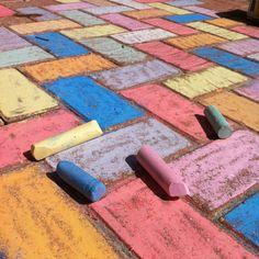Sidewalk chalk art @ camp