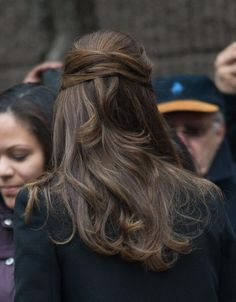"""""""This one is pretty cool,"""" Kennedy says. """"It mixes things up."""" To create the look, twist hair back, away from the hairline. Then criss-cross the two sections and secure with a bobby pin. Can't keep the pins in place? """"Backcomb the hair on top, going all the way down past the crown,"""" Kennedy advises. """"It creates texture, so the pin really locks in."""""""