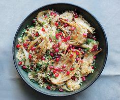 Salada de quinoa, funcho e romã