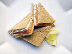 Salmon & Dill Tea Sandwiches