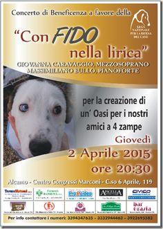 2 aprile Concerto di #beneficenza a favore della #LegadelCane di #Alcamo (TP)
