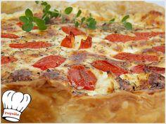 ΓΡΗΓΟΡΗ ΤΑΡΤΑ ΤΥΡΙΩΝ ΜΕ ΣΦΟΛΙΑΤΑ!!! Cheese Pies, Greek Recipes, Hawaiian Pizza, Pepperoni, Quiche, Mashed Potatoes, Cooking, Ethnic Recipes, Yolo