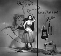A Revlon window display from Dayton's department store in 1955. Learn more about this historic store in the upcoming Dayton's: A Twin Cities Institution. https://historypress.net/catalogue/bookstore/books/Dayton's/9781609496722