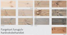 Moelven_Fargekart furugulv Osmo hardvoksbehandlet Colours, Flooring, Home Decor, Lily, Decoration Home, Room Decor, Wood Flooring, Home Interior Design, Floor