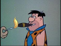 Fred, enjoying a Stone Age Cigar...