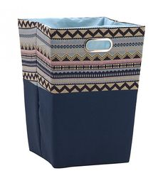 FABRIC LAUNDRY BASKET IN MULTI COLOR 35Χ35Χ50