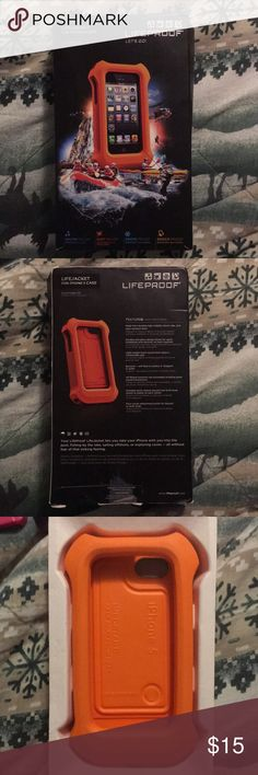 iPhone 5/5s Lifeproof Lifejacket iPhone 5/5s Lifeproof Lifejacket to keep your phone from sinking into the river/lake. Only used once or twice in the pool for less than 20 minutes each time. LifeProof Accessories Phone Cases