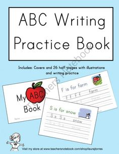 ABC Writing Practice Book product from LauraTorres on TeachersNotebook.com