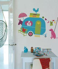 decoratie stickers: babykamer muurstickers vrolijk gekleurde blije, Deco ideeën