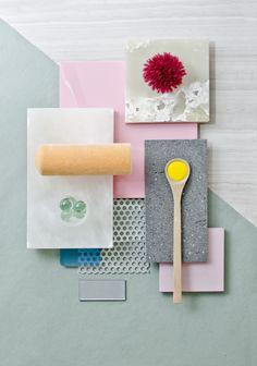 Weekly material mood 〰 Pastel Spunge & Lava Stone #aluminium #mesh #orange…