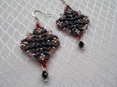 Beaded Earrings Silver 925 Jeans Roz Swarovski - MichaelaBijoux   Crafty