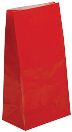 paper bags - red Case of 300