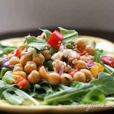 Chick Pea Salad #SundaySupper
