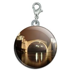 Stari Most Bosnia And Herzegovina night Stainless Steel Pet Dog ID Tag >>> Want to know more, click on the image. (Note:Amazon affiliate link)