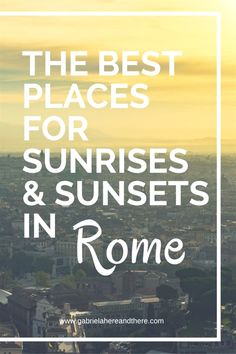 As a travel photographer, I'm obsessed with sunrises and sunset. I visited Rome for the second time this autumn, so instead of doing all those touristy sightseeing things again, I… #ItalyPlanning