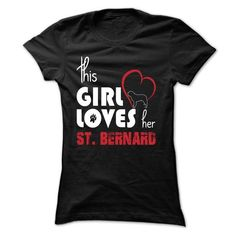 girl loves her st bernard - #pullover hoodie #pink hoodie. GET IT => https://www.sunfrog.com/Pets/girl-loves-her-st-bernard-Black-qm5x-Ladies.html?68278
