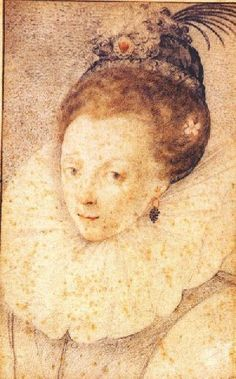 Zuccaro's sketch of Queen Elizabeth I; c1570s; the most authentic likeness of the queen