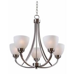 Hampton Bay, Hastings 5-Light Brushed Steel Chandelier, HDP12055 at The Home Depot - Mobile