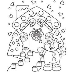 Free Printable Gingerbread Man Coloring Pages For Kids Coloring
