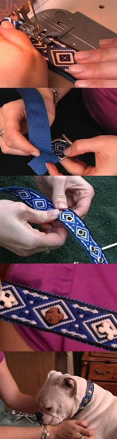 DIY Dog Collar with Cute Little Dog Buttons 2